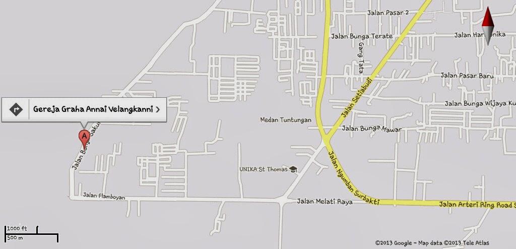 Peta lokasi gereja velangkanni