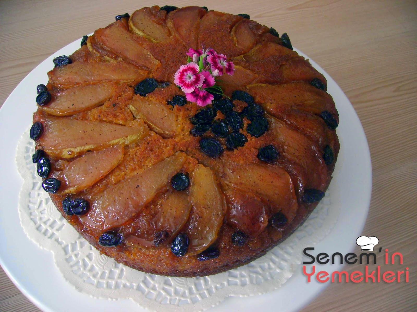 Karamelize armutlu kek