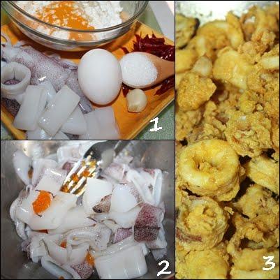 ... telur asin bwg putih seulas lada kering cili padi digunting serong