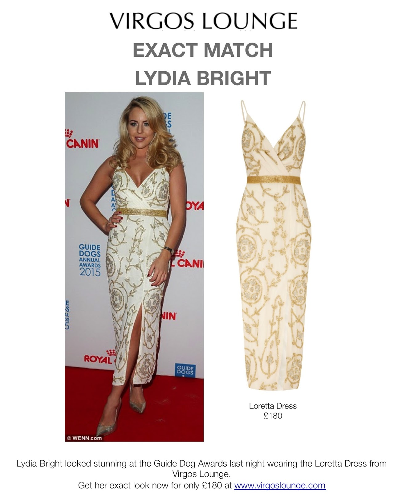 frumpy to funky: EXACT MATCH - Lydia Bright in Virgos Lounge dress