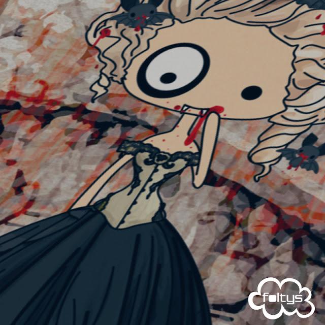 ilustración original | original illustration foltys vs the vintage vamp, halloween 2015