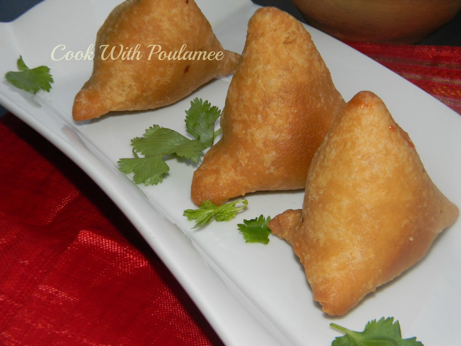 how to cook chicken samosa