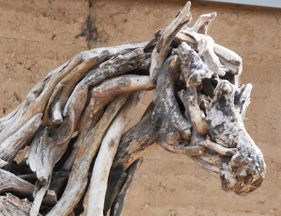 Horse art work at Eden Project, Cornwall by Heather Jansch