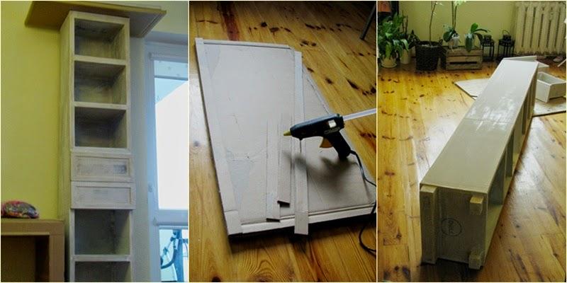 jak zrobic szafke z kartonu