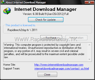 Picture showing Registered IDM 6.08 Beta Build 9