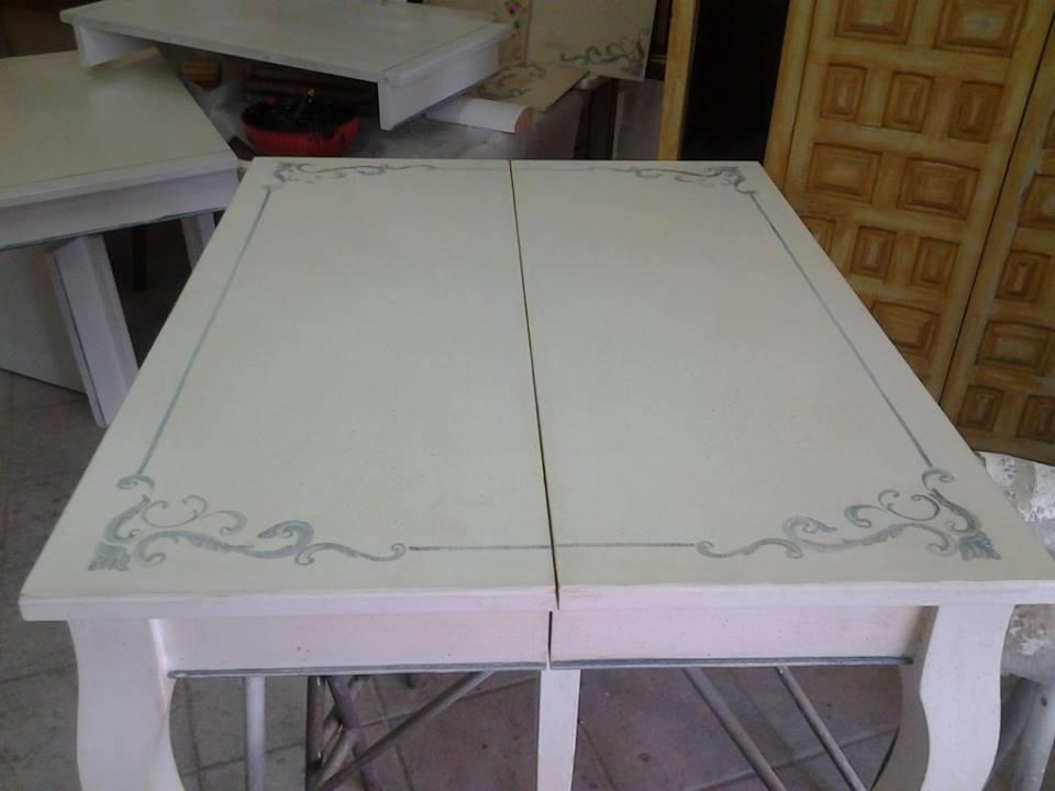 Restauro e restyling tavolo per ospiti in shabby chic - Tavolo shabby ...