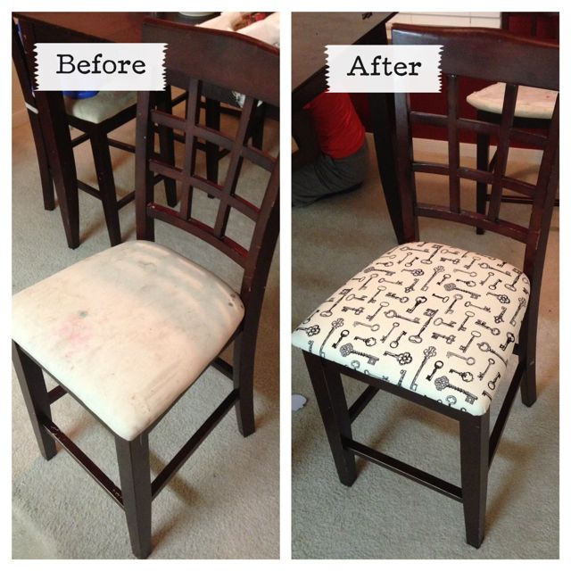 miss danielle renee diy reupholstered dining room chairs