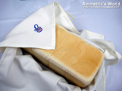 Loaf of Gardenia White Bread fresh off the production line