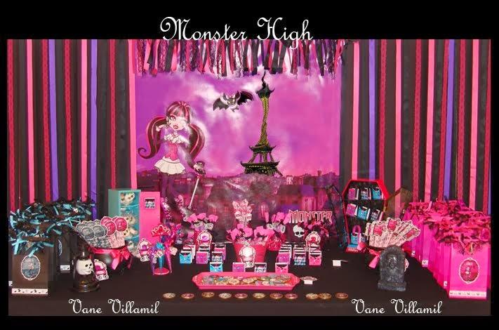 Cumpleaños Monster High para los 8 años de Juana
