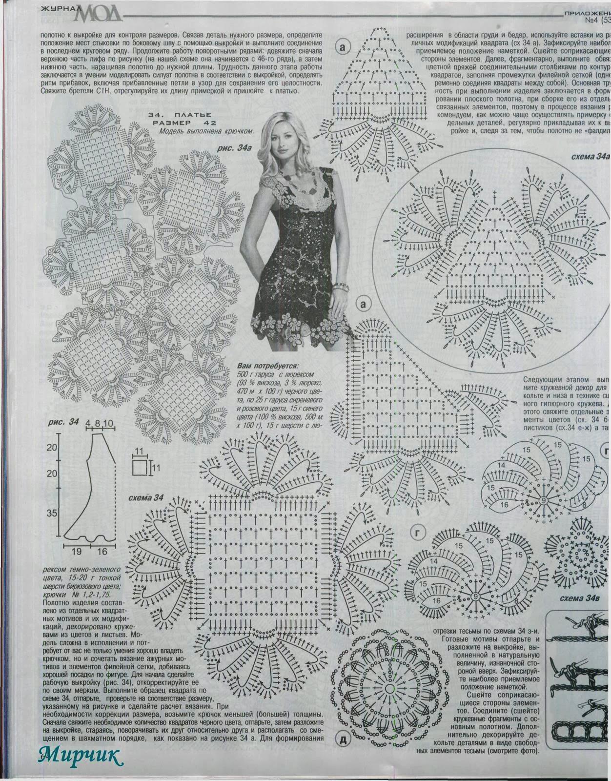 LINDO VESTIDO A CROCHET SACADO DE REVISTA | Patrones Crochet ...