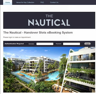 The Nautical - Handover Slots eBooking System