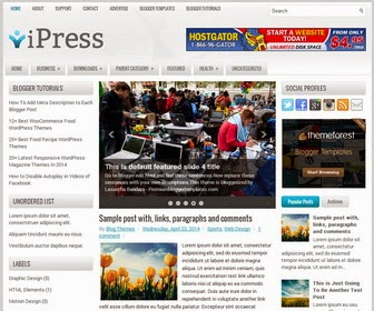 iPress Responsive Blogger Template