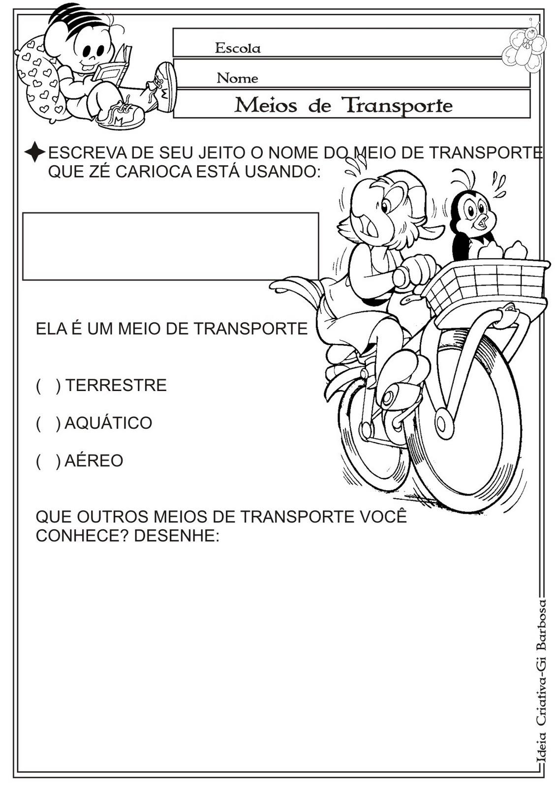 Atividade Meios de Transporte