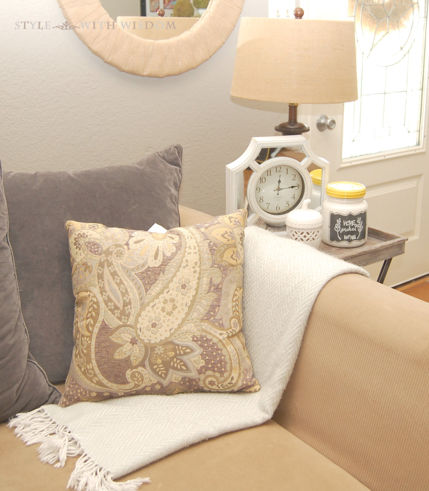 Style with Wisdom: Living Room Update with Big Lots!