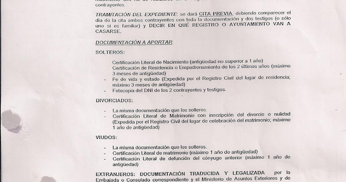 Matrimonio Catolico Requisitos Peru : Contraer matrimonio en espana entre extranjeros salud