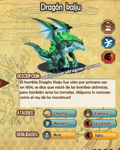 imagen de las caracteristicas del  dragon kaiju