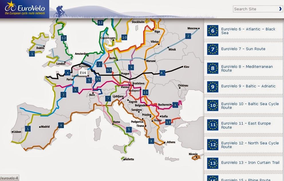Bikemap euro long distance