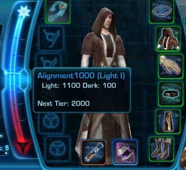 how to get more dark side points swtor