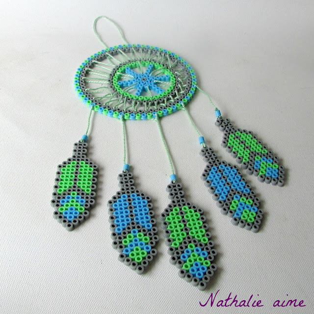 Nathalie m sc more 279 mon attrape r ves en perles repasser - Modele d attrape reve ...