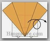 Bước 9: Lật mặt sau tờ giấy ra đằng trước.