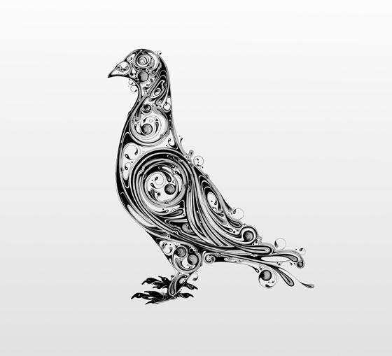 Desenhos em preto e branco de Si Scott - 02