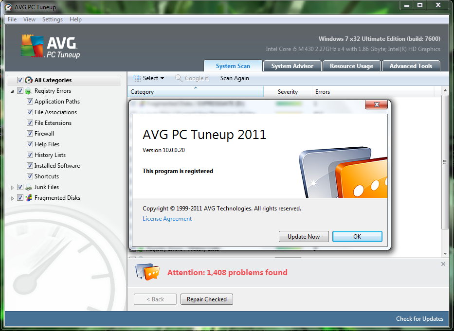 avg pc tuneup utilities portable