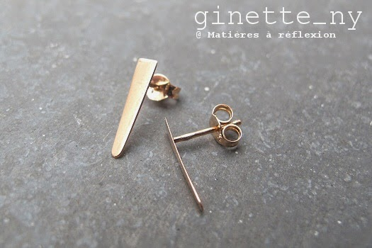 Ginette NY boucles arrow flèche en or rose