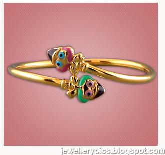 cool gold braceletbangle models for kids from malabar