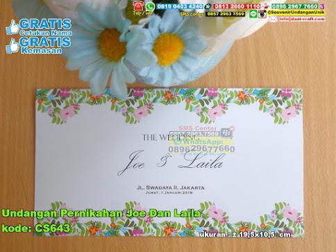 Undangan Pernikahan Joe Dan Laila