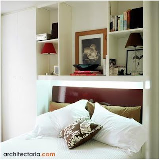 Image white bedrooms for small space