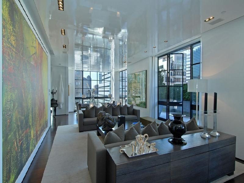 World of architecture penthouses tribeca penthouse with for Luxury penthouses in manhattan