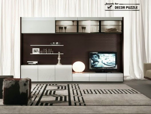 20 cool modern tv wall units for unique living room designs for Modern tv unit design ideas