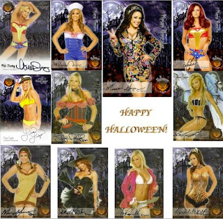 Preview sheet for Bench Warmer 2012 Halloween trading cards