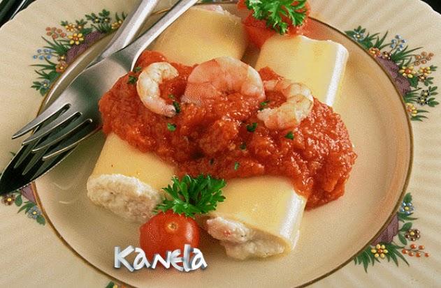 Canelones de gambas y berenjenas kanelamonje recetas de cocina - Canelones en microondas ...