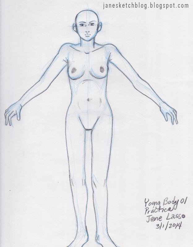 Dibujo de cuerpo juvenil