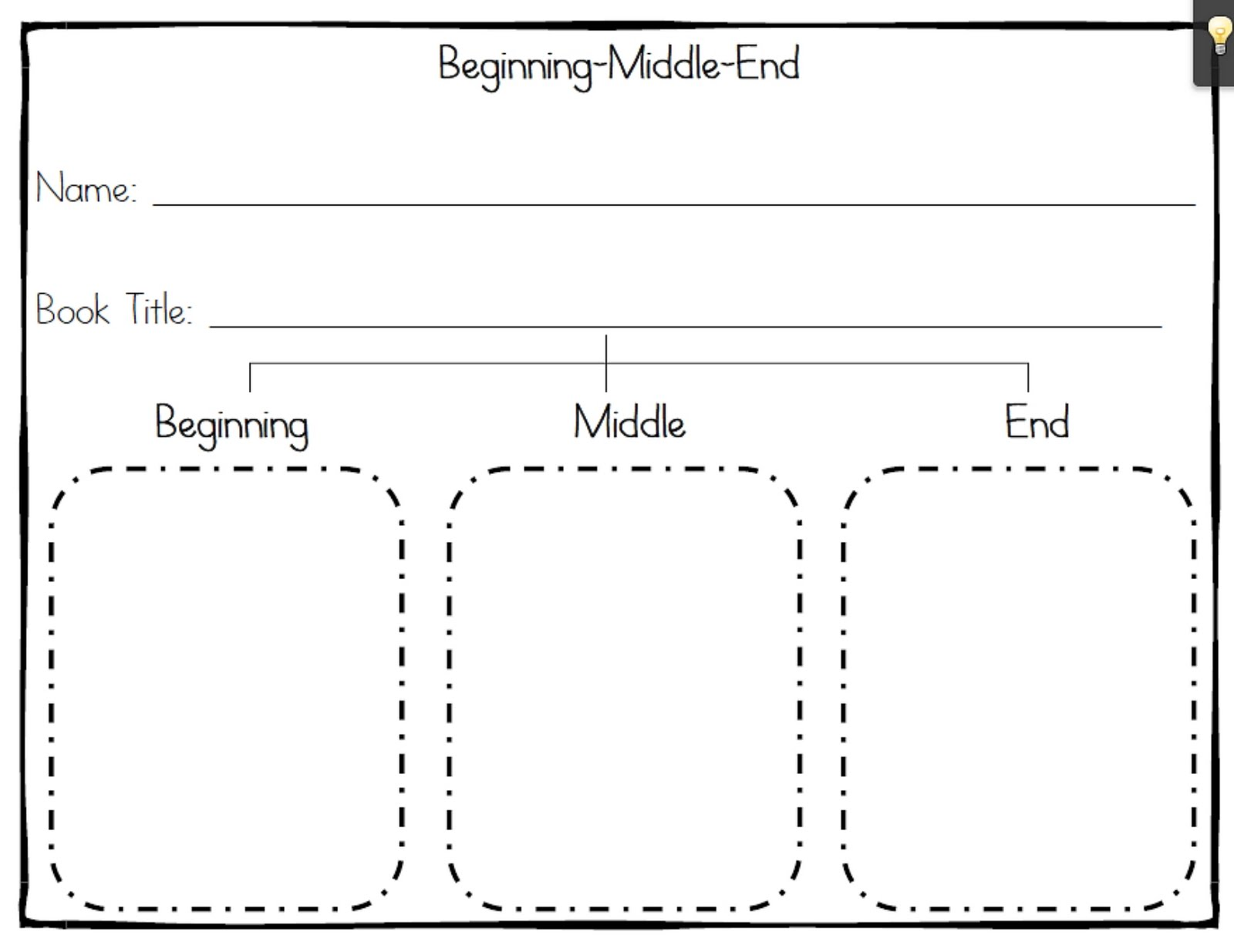 Beginning Middle End Summary Graphic Organizer Pictures to Pin on – Beginning Middle and End Worksheets
