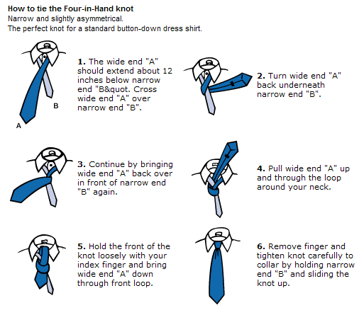 Ias niti interview how to tie a tie this knot is less complex and only wraps around a couple of times tall people will find it to be desirable if they can not achieve their desired necktie ccuart Images