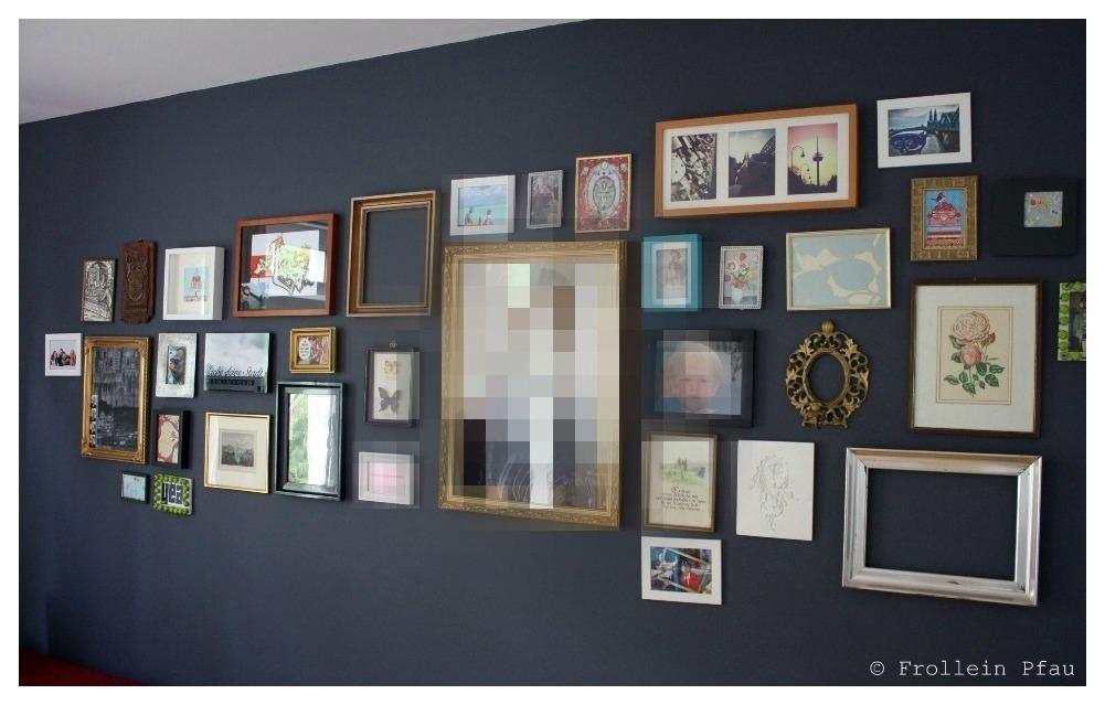 Bilderwand mit digitalen Bildern
