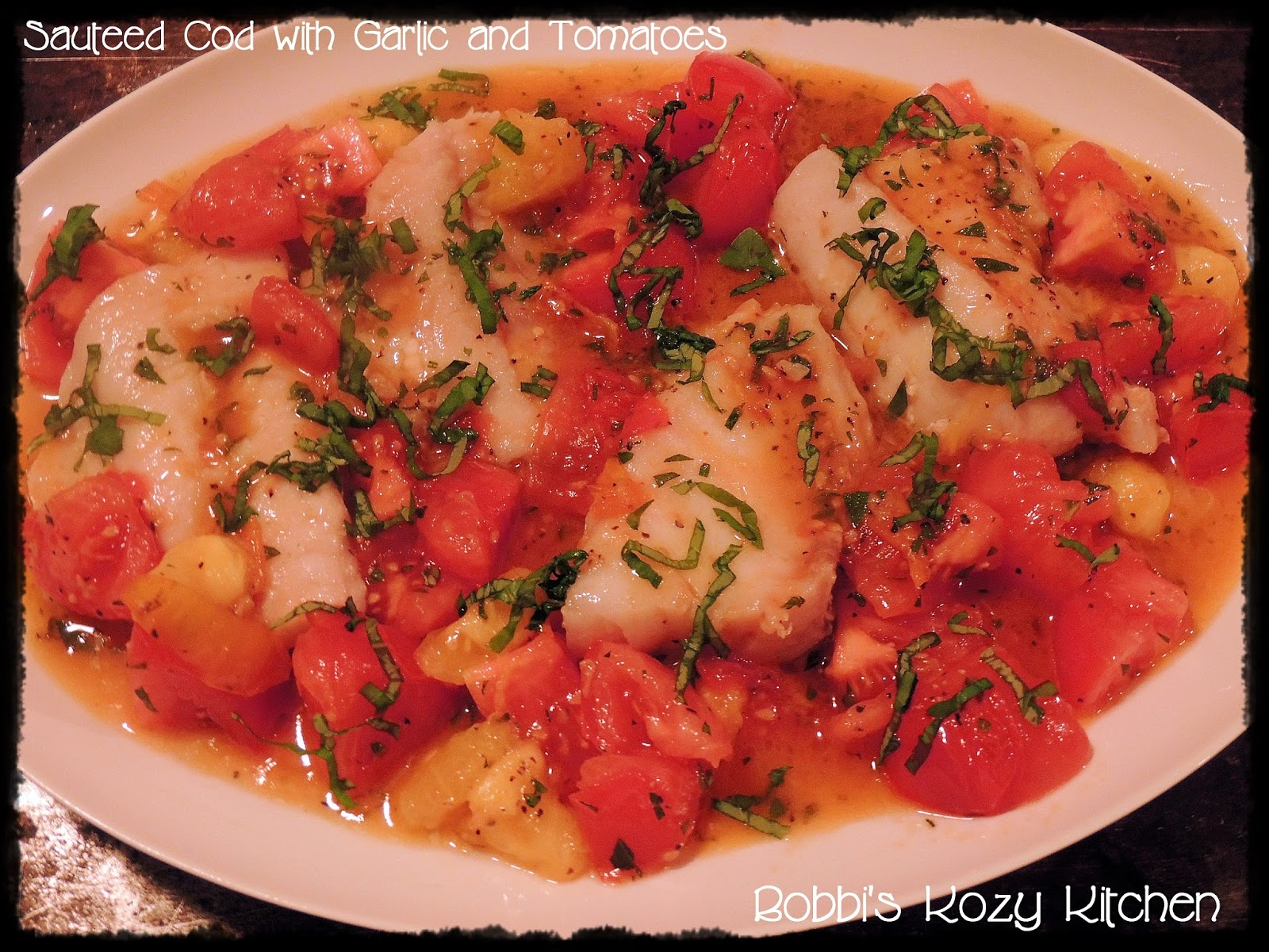 Sauteed Cod with Garlic and