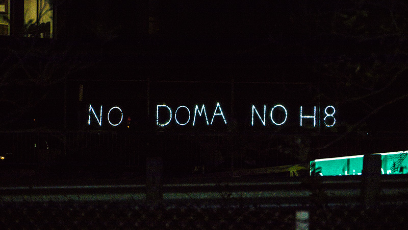 """NO DOMA NO H8"", Overpass Light Brigade."