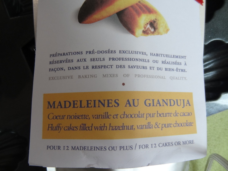 madeleines gianduja
