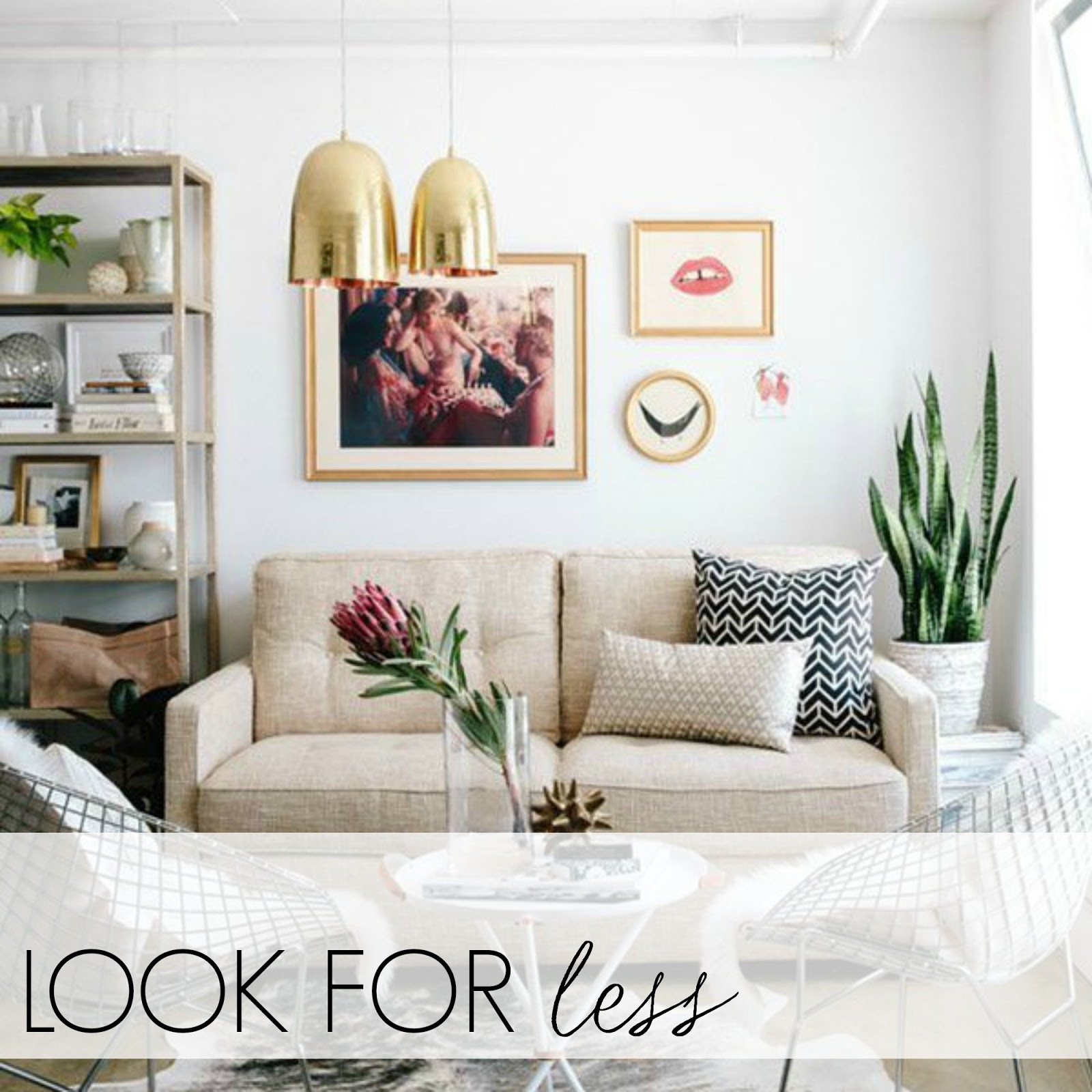 look for less mid century modern living room