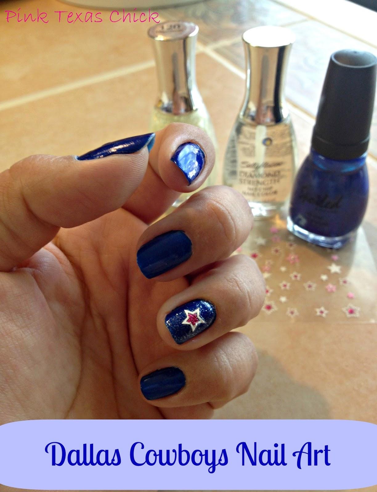 My dallas cowboys nail art pink texas chick prinsesfo Image collections