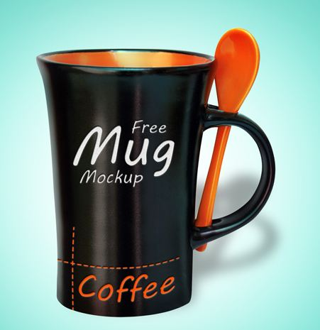 Download Coffee Mug Mockup PSD Terbaru Gratis - Black Mug PSD Mockup Free