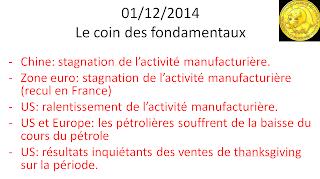 actualité bourse 01/12/2014