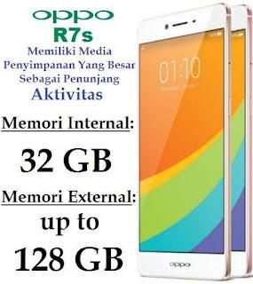 Oppo R7s Memiliki Memori Internal Besar