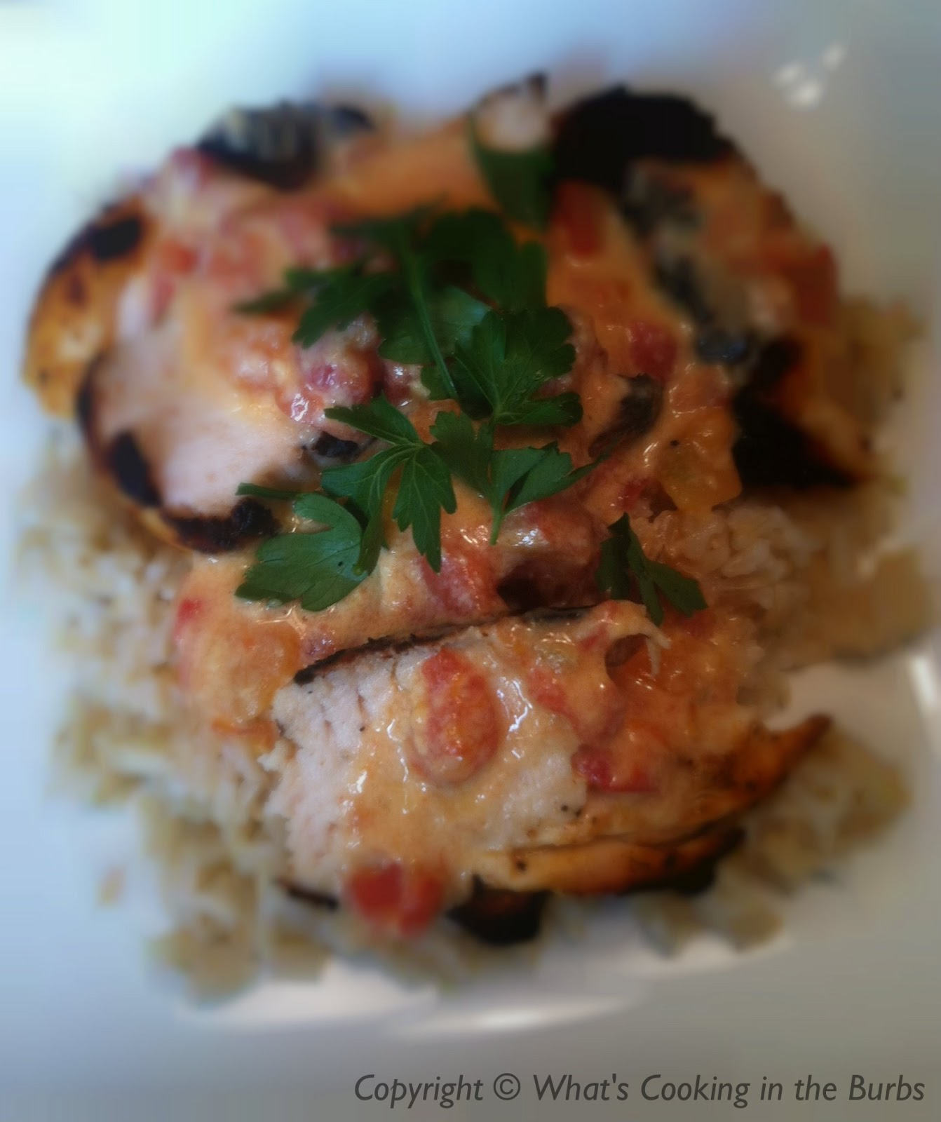What's Cooking in the Burbs: Queso Smothered Chicken