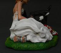 Statuine particolari sposi speciali scarpe sposa abito decorato orme magiche