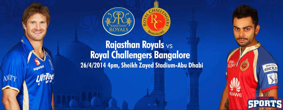 22nd match - Rajasthan Royals v Royal Challengers Bangalore, IPL 2015, Live Preview
