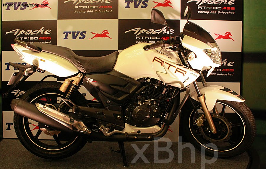 tvs apache rtr 180 with abs launched bike chronicles of india